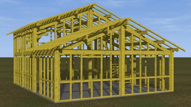 Dessin 3d maison plan maison 3d sketchup partagez 01 for Programme dessin maison