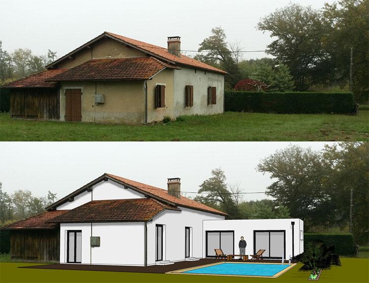 Exemples de r alisations for Extension maison quebec