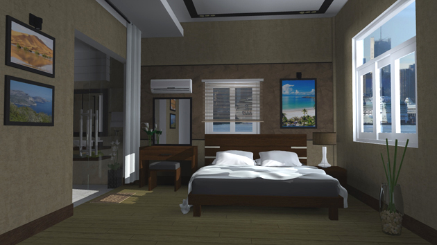 Simulation chambre 3d free chambre d perspective intrieur for Simulation 3d salon