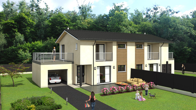Images 3d de vos projets immobiliers for Amenagement exterieur 3d