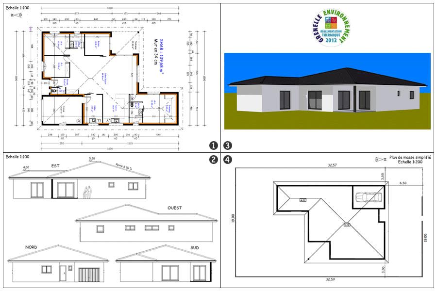 plan et avant projet de construction